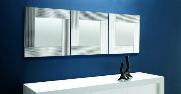 Flute specchio con cornice specchiante rettangolare