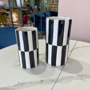 Black and White vaso