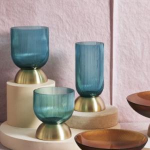 vaso vetro turchese