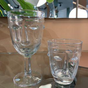 bicchiere faccia trasparente