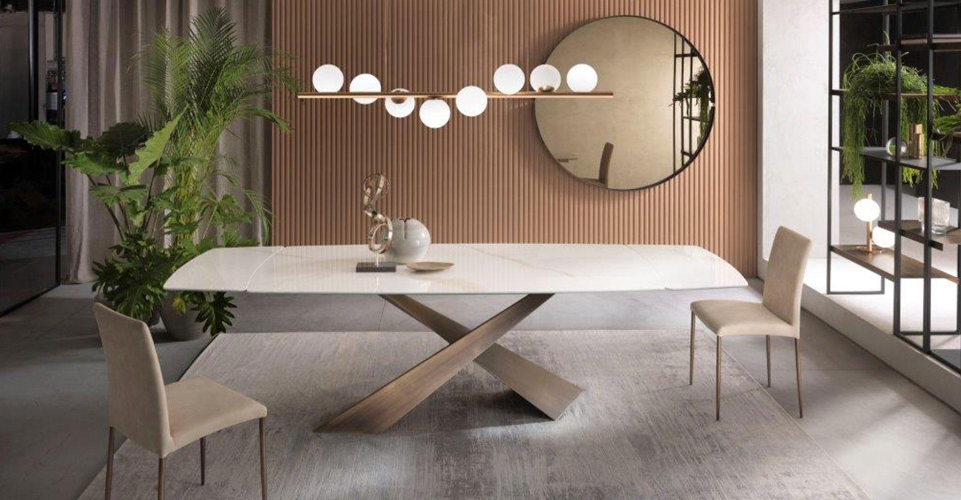 tavolo living e illuminazione twist